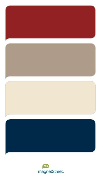 Brick, Ashwood, Champagne, and Navy Wedding Color Palette - custom color palette created at MagnetStreet.com