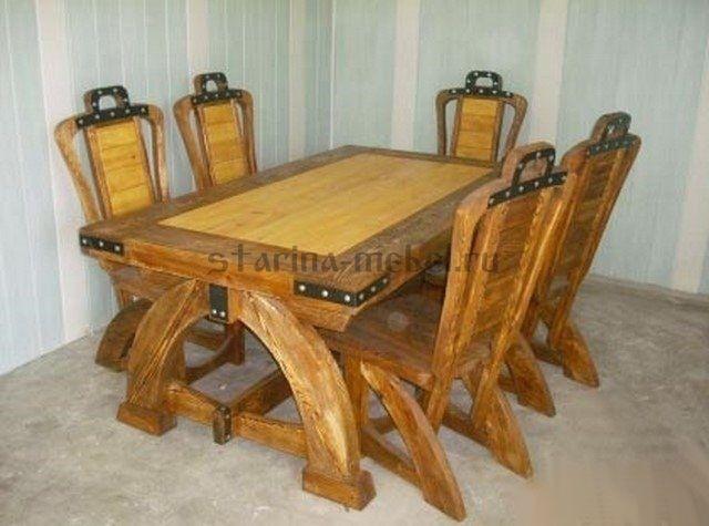 Деревянный стол под старину Империал