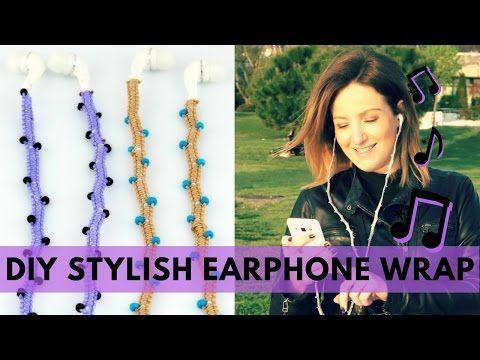 Video Tutorial DIY Stylish Earphones - Headphones Wrap: 6 Steps