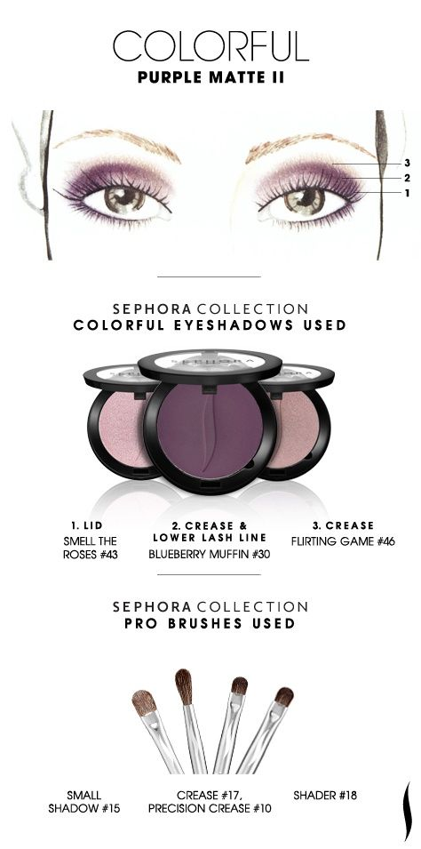 COLORFUL: Purple Matte 2 HOW TO #sephoracollection #sephora #eyeshadow