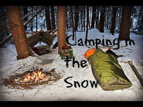 Solo Winter Overnight Bushcraft Camp - YouTube