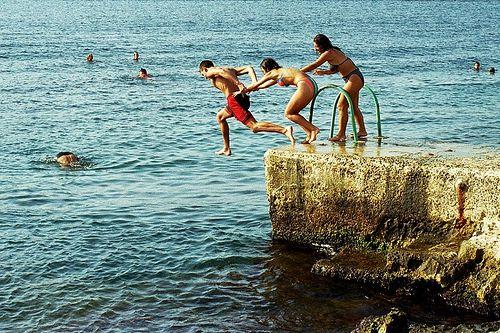 """Swimming in Sliema Malta"""