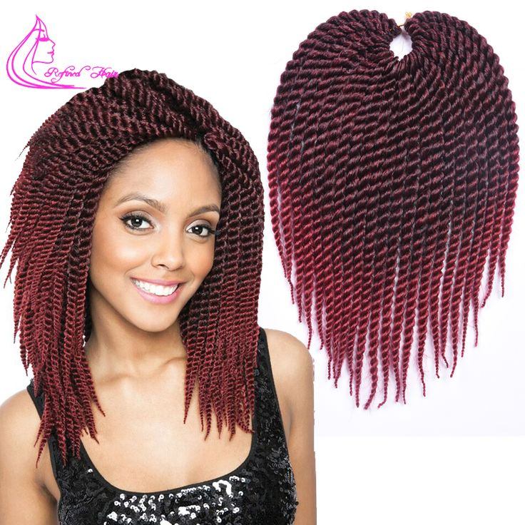 "Promotion Afro Twist Crochet Hair Synthetic Crochet Braiding Hair Extensions 75g/pack 12"" Havana Mambo Twist Crochet Braids"