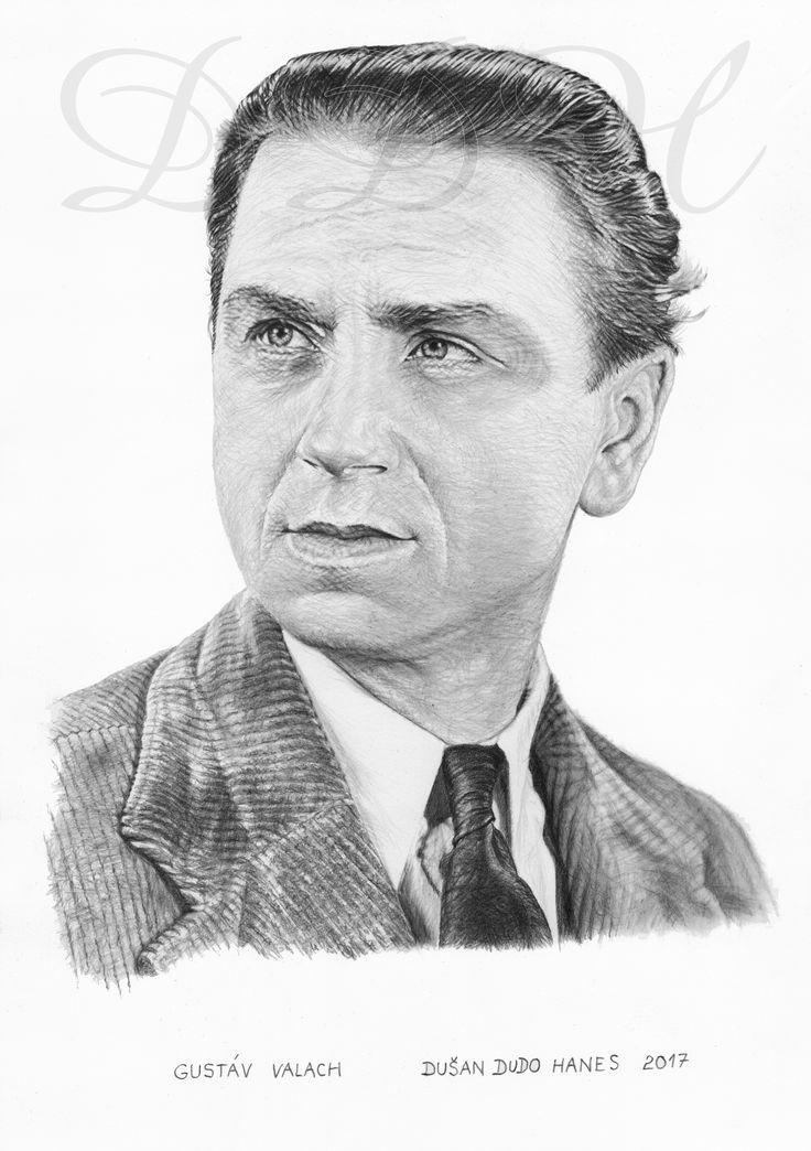 Gustáv Valach, portrét Dušan Dudo Hanes