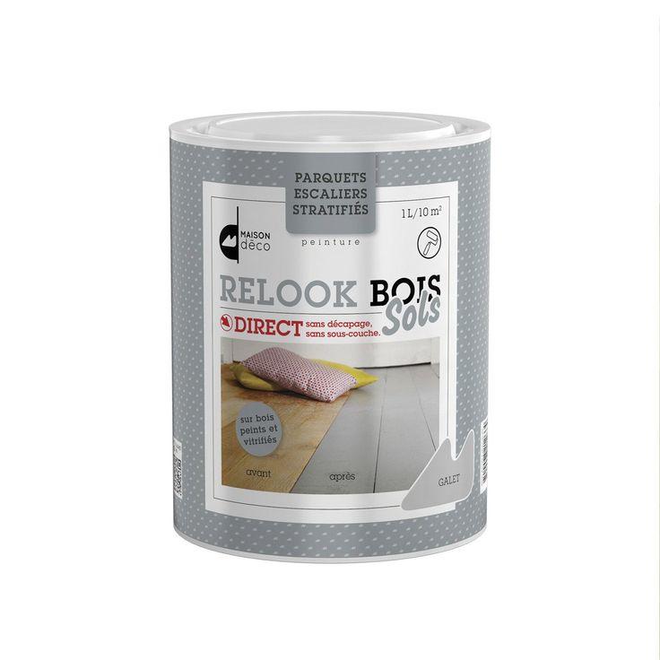 Lasure intérieure parquet Relook bois MAISON DECO, 1 l, taupe
