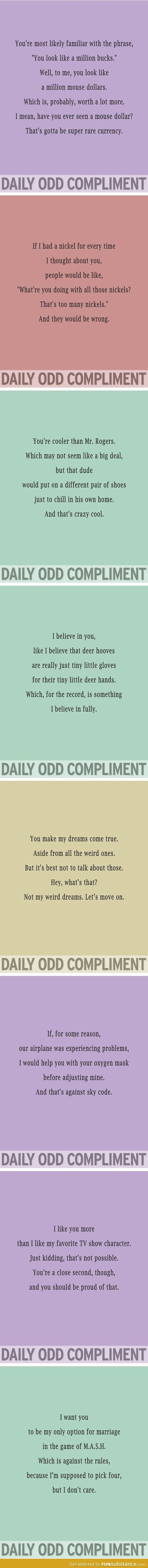 Daily odd compliment - FunSubstance.com