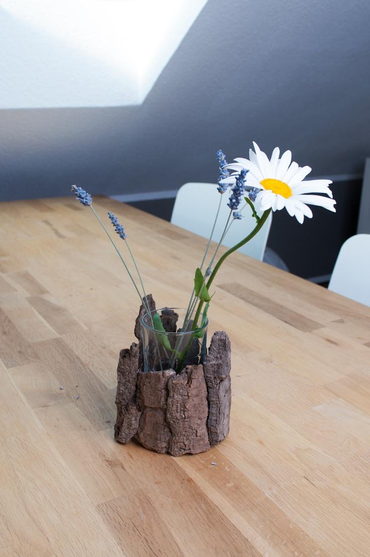 driftwood treibholz deko rinde flexibel einsetzbar f r kerzen teelichte kleine vasen. Black Bedroom Furniture Sets. Home Design Ideas