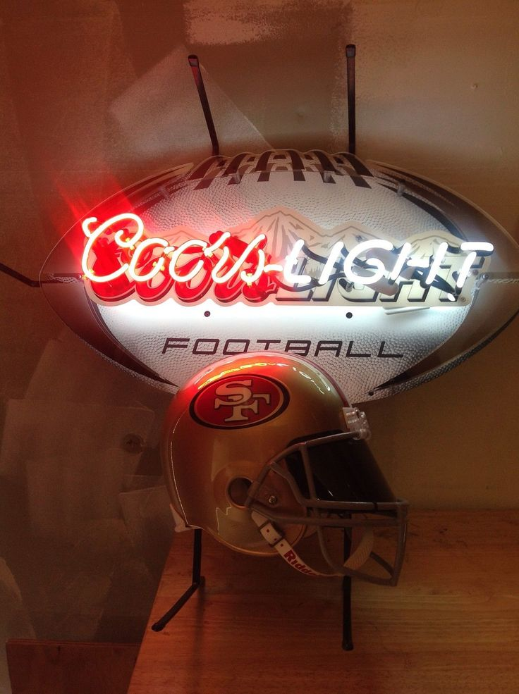 Coors Light Beer 49 Ers Helmet Neon Light Sign 49ers