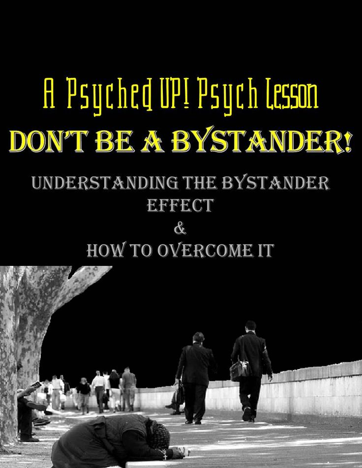 the four causes of bystander effect The purpose of this website is to give a better understanding of the bystander effect the website details the what the bystander effect is, as well as, it's history.