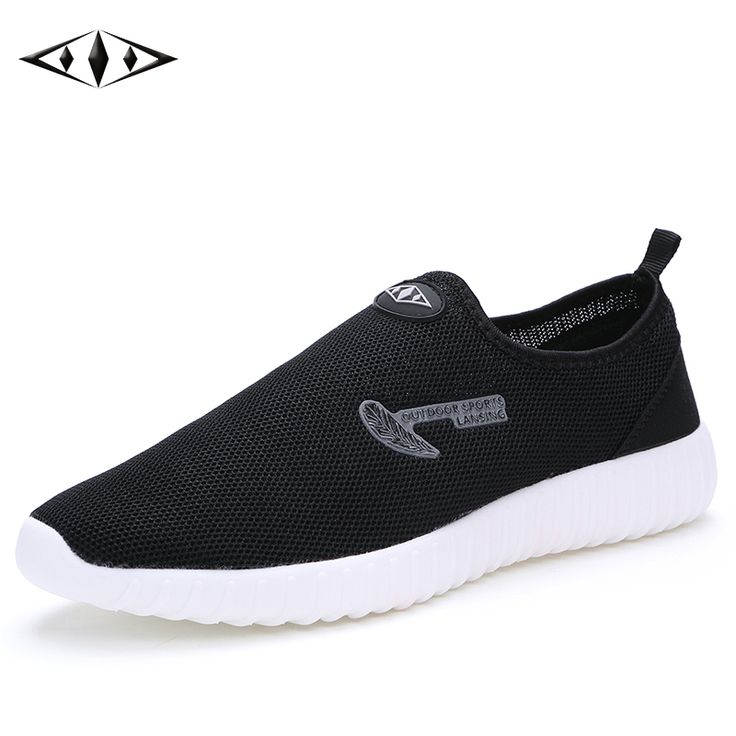 LEMAI 2016 Leisure Mens Shoes Breathable Mesh Running Shoes Super Light Cool Summer Men Outdoor Sport Black Sneakers 016-1