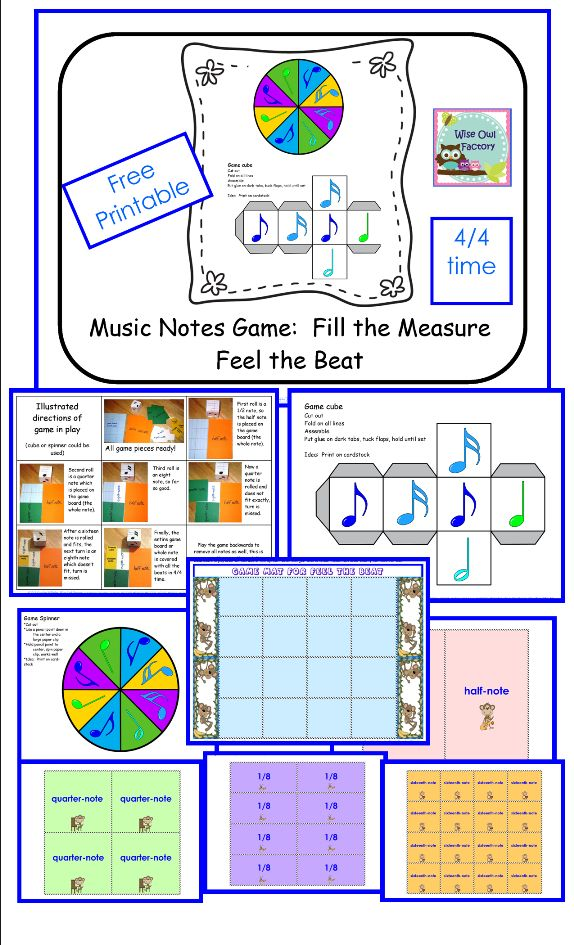 music game for learning about notes, free printable, photo illustrations of the game in play
