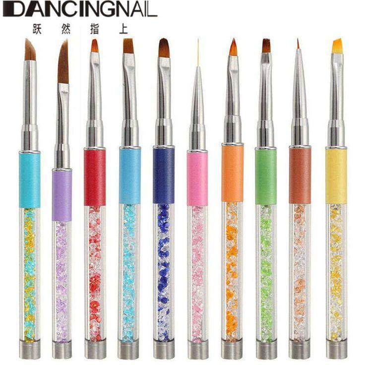 10Pcs High Quality Nail Art Brush Pen Painting Drawing Design Set Kit UV Gel Polish Liner Brushes Professional Nails Arts Tools