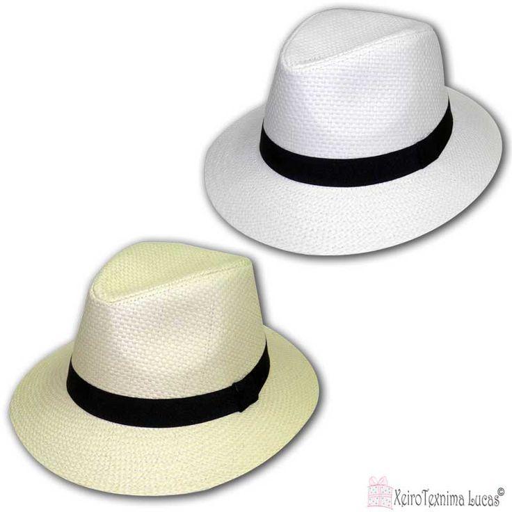 Ανδρικά ψάθινα καπέλα