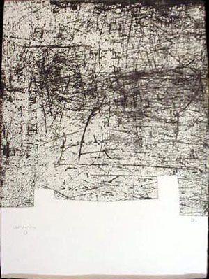 Artist: Eduardo Chillida Title: Une Helene de Vent 3 Year: 1998 Medium: Etching with Aquatint on Paperki Paper