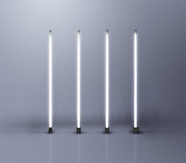 The Induction Tube Light uses a magnetic field to transfer electrical current to a regular 6-ft fluorescent bulb. by Castor (Canada)