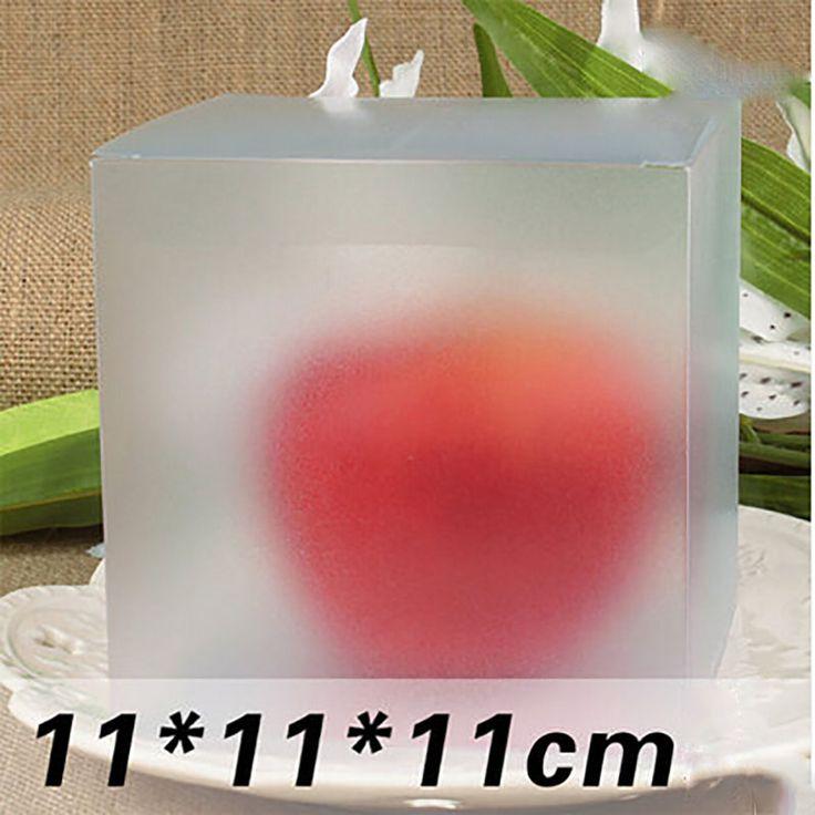 Оптовая продажа Newest 11 * 11 * 11 см пвх ясно скрабы квадрат упаковка собственный подарочные коробки конфет / торт / / / кекс упаковочной коробки купить на AliExpress