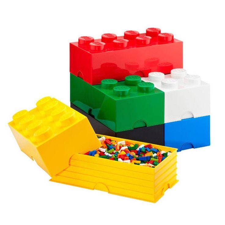 Lego Storage Brick - Red - 2 Sizes Available - fun storage box