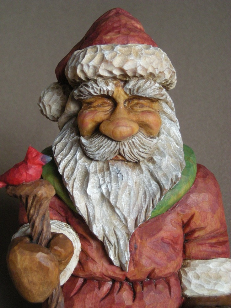 Best santas images on pinterest tree carving