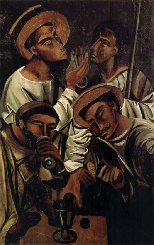 Drinker, 1913 Andre Derain. 1880-1954 (died same year as Matisse, but Matisse was born in 1869