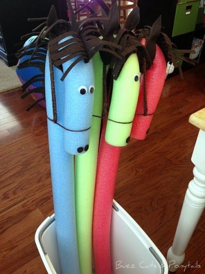 Hobby Horses out of pool noodles