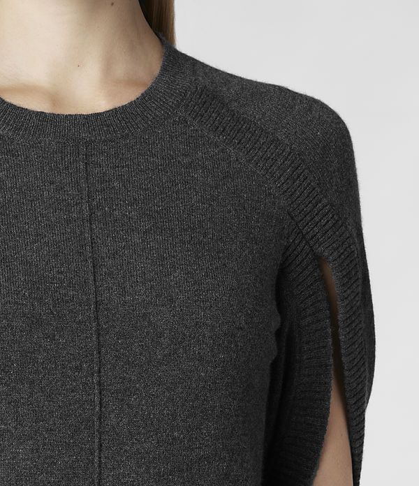 Donna Blaye Jumper Dress (Charcoal) | ALLSAINTS.com
