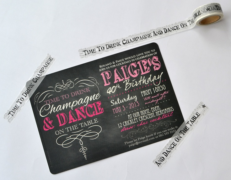 Personalised Invitation with a fun and elegant design - ideal for any celebration - www.macaroon.co