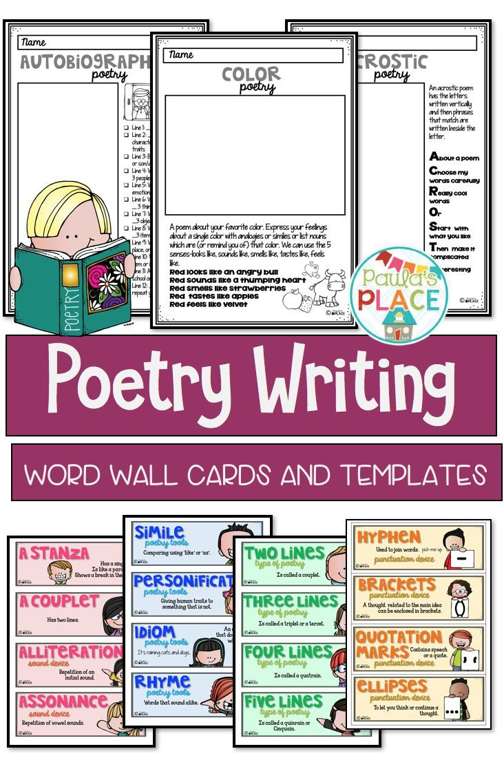 Poetry Writing Pack | Increase vocabulary, Punctuation and Language