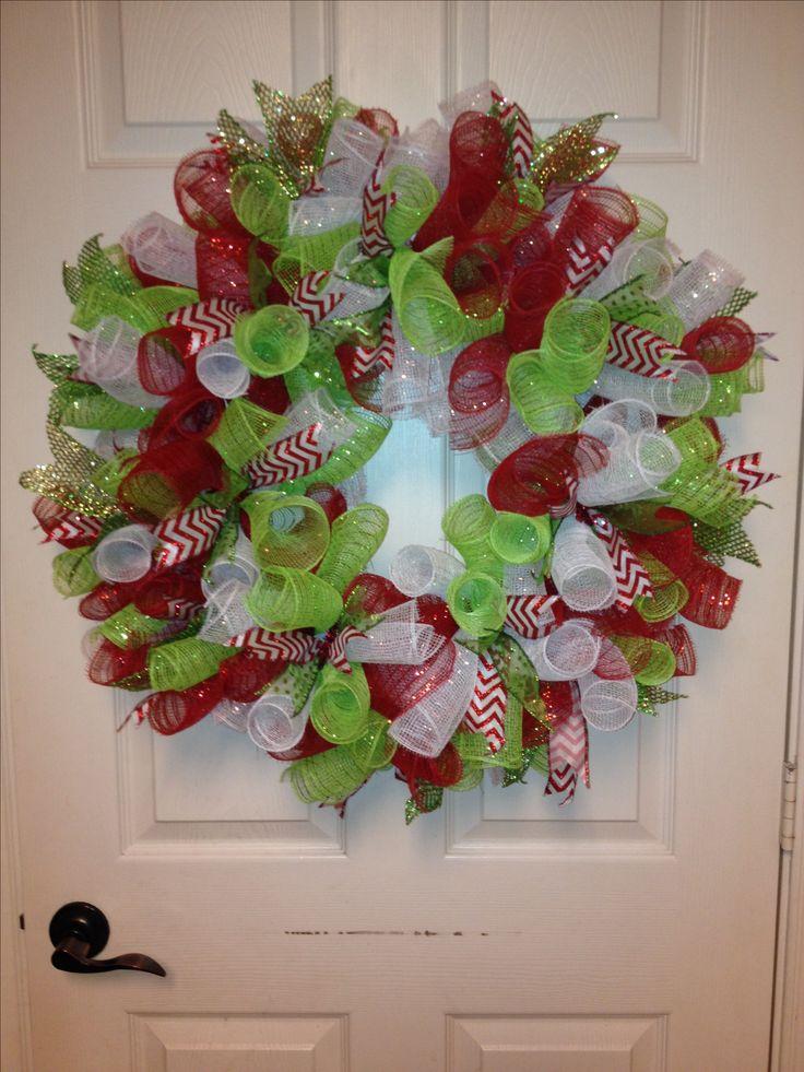 best 20 christmas mesh wreaths ideas on pinterest. Black Bedroom Furniture Sets. Home Design Ideas