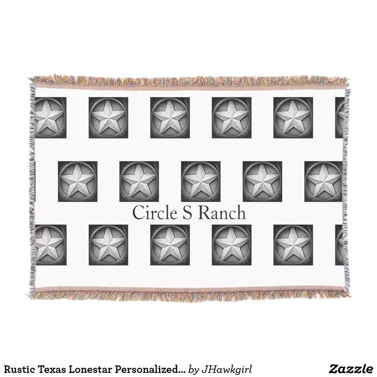 Rustic Texas Lonestar Personalized Throw Blanket