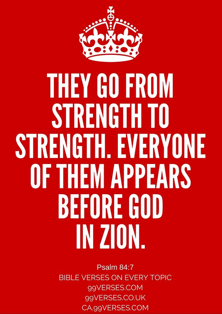 Study Topic: Feeding in the Strength of the Lord | Bible ...