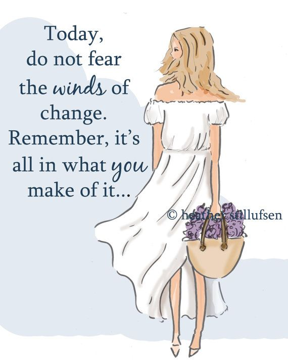 The Winds of Change - Cards for Friends Sisters - Cards for Women - Art for Women-  Wall Art - Art for Women - Inspirational Art