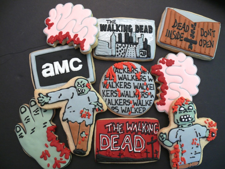Cookies I made for a viewing party for The Walking Dead season three premier on AMC