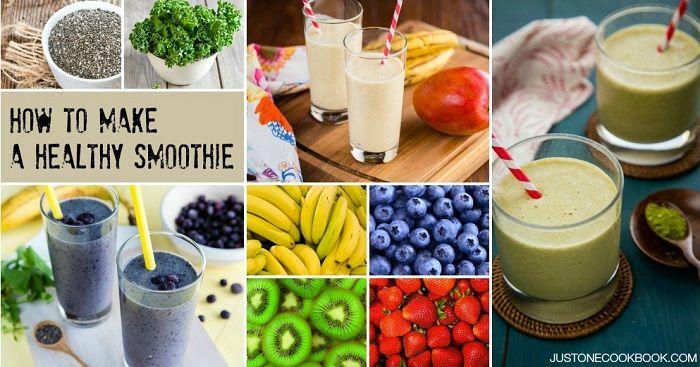 Wie man einen Smoothie macht Einfache japanische Rezepte bei JustOneCookbook.com   – Smoothies, Ice Cream, Sorbet