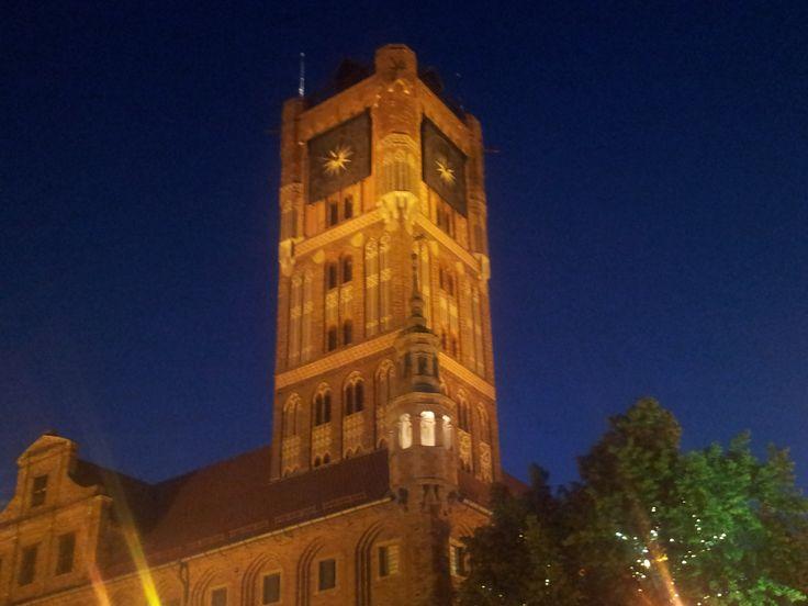 The old town hall in Torun