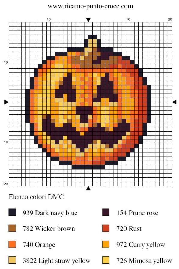 halloween - citrouille - point de croix - cross stitch - Blog : http://broderiemimie44.canalblog.com/