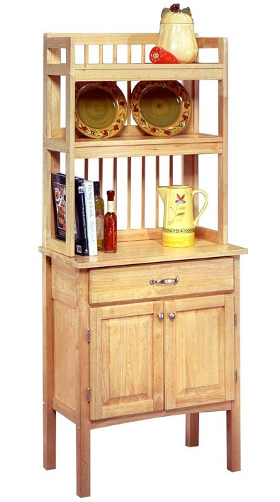 All Wood Bakers Rack Cabinet   Bakers rack, Bakers cabinet ...