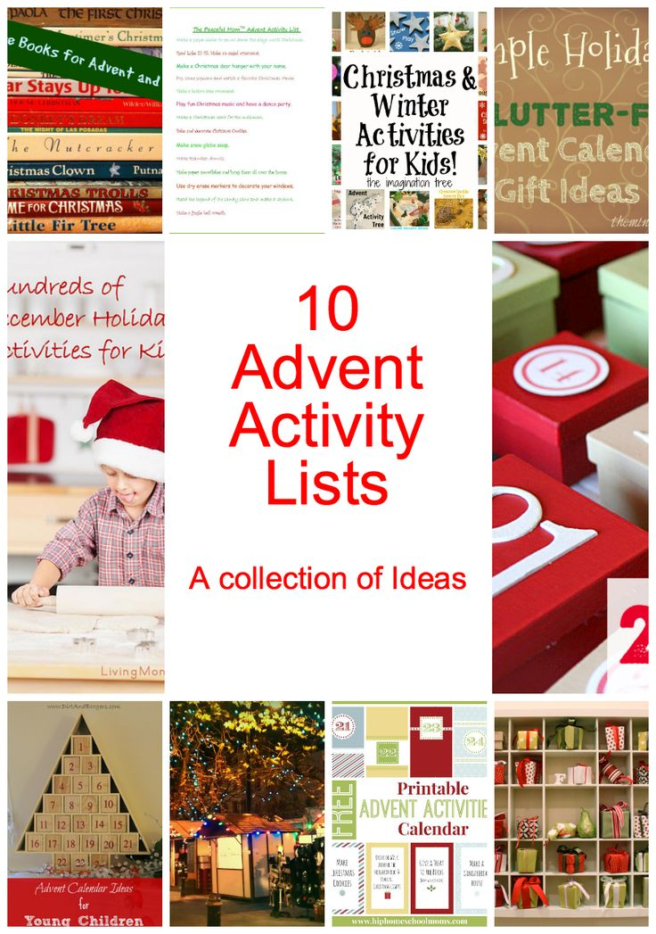 Time to pull out the advent calendar and look for inspiration and ideas. Here you'll find 20 unique advent calendar ideas and a calendar of activities.