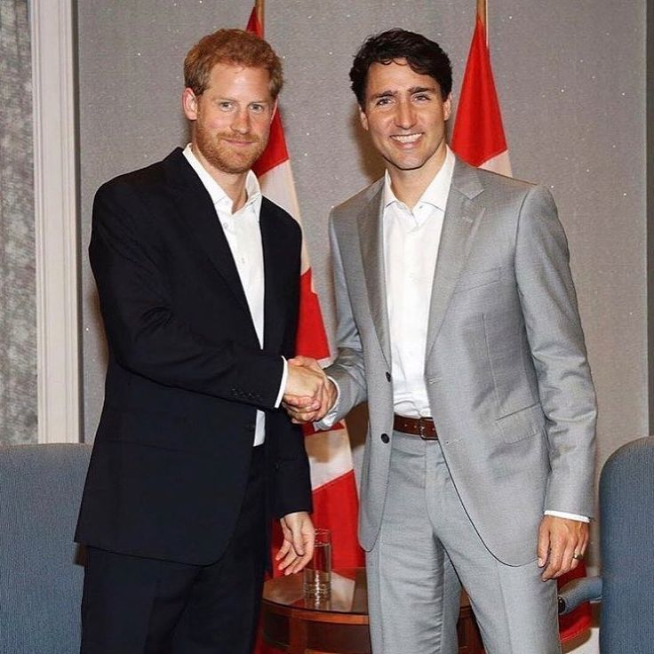 """Prince Harry meets with Canadian Prime Minister Justin Trudeau in Toronto on Saturday, September 23 - 777 Likes, 5 Comments - FASHION Magazine (@fashioncanada) on Instagram: """"Well, he's no #MeghanMarkle, BUT #JustinTrudeau stepping in for this photo opp with #PrinceHarry is…"""""""