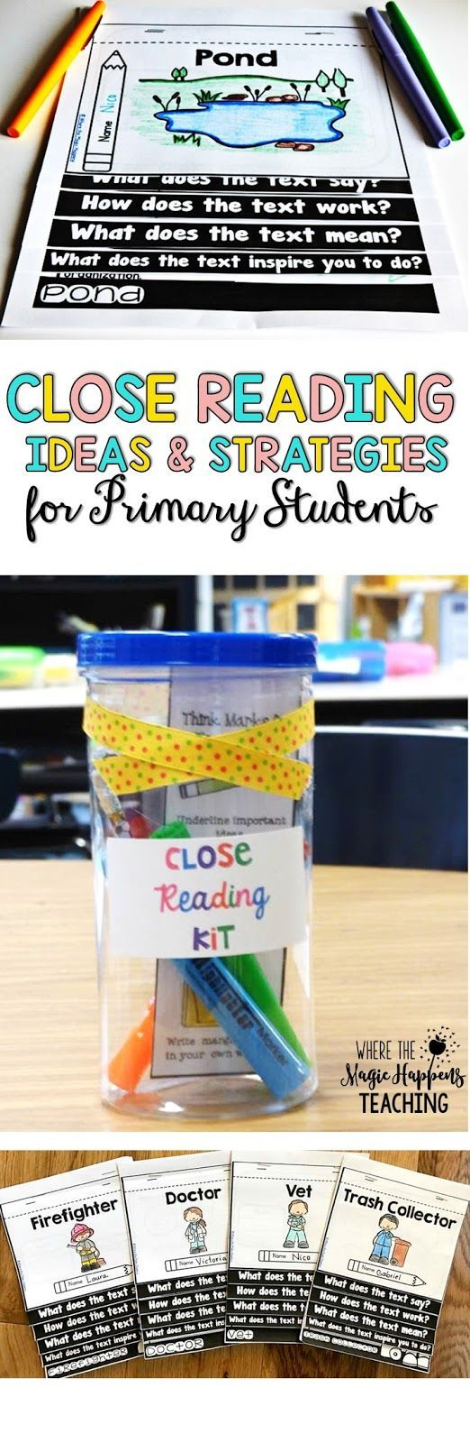 Where the Magic Happens: Close Reading ideas and Strategies in the Primary Grades {and many FREEBIES!!}