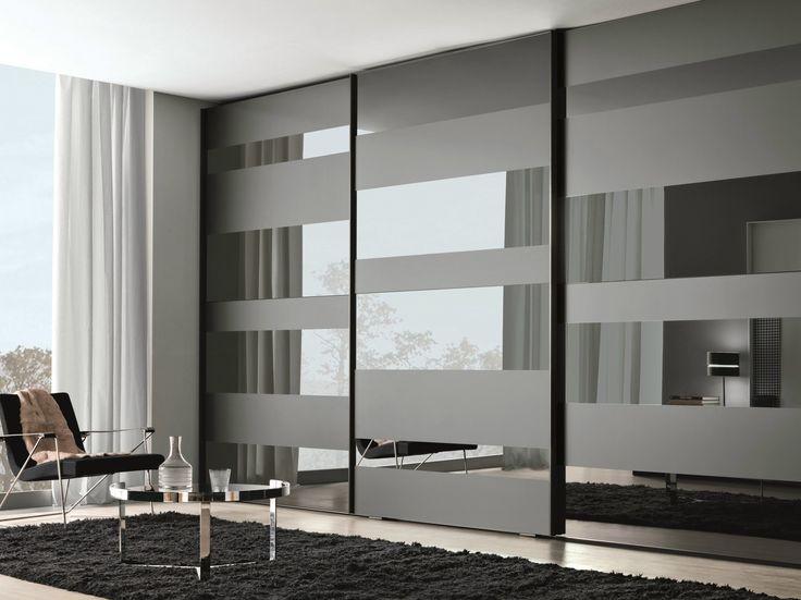 Lacquered wooden wardrobe with sliding doors SEGMENTA NEW by MisuraEmme design Mauro Lipparini