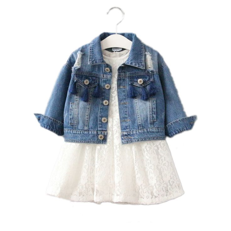 baby girl coat 2017 new fashion spring coat girls solid denim jeans jackets for girl hole tassel children clothing girls outwear #Affiliate
