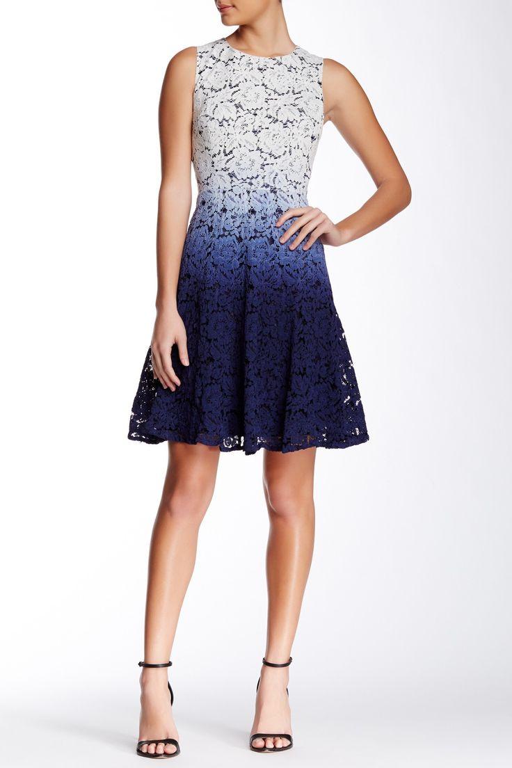 Trina Turk | Carpenteria Dip Dye Lace Fit & Flare Dress