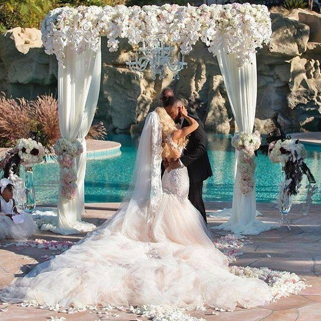 And you may now #kiss the #bride. #GLjustmarried and #beautiful. @carleyet and @matthew_harp Our #GLbride wearing a custom made #Loretta gown by #GaliaLahav. Visit our website to find the nearest store to you.
