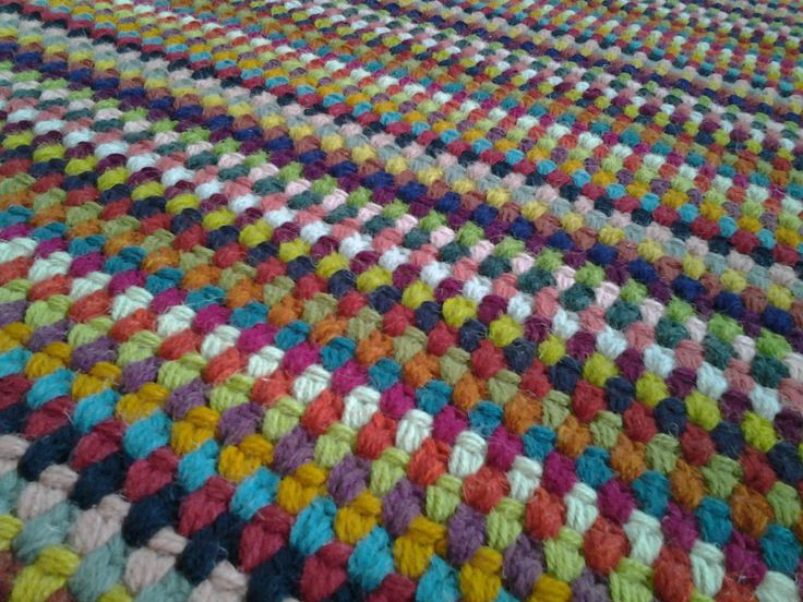 "Crochet Square Rug/Rectangular Rug 67""/52""/170 cm/133 cm/Crochet Rug/Rugs/Rug/Area Rugs/Floor Rugs/Large Rugs/Handmade Rug/Carpet/Wool Rug by AnuszkaDesign on Etsy"