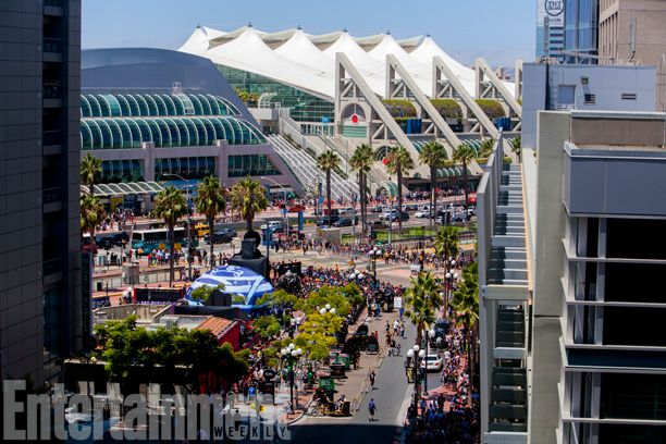 San Diego Comic-Con 2014 | An aerial view of the Convention Center.
