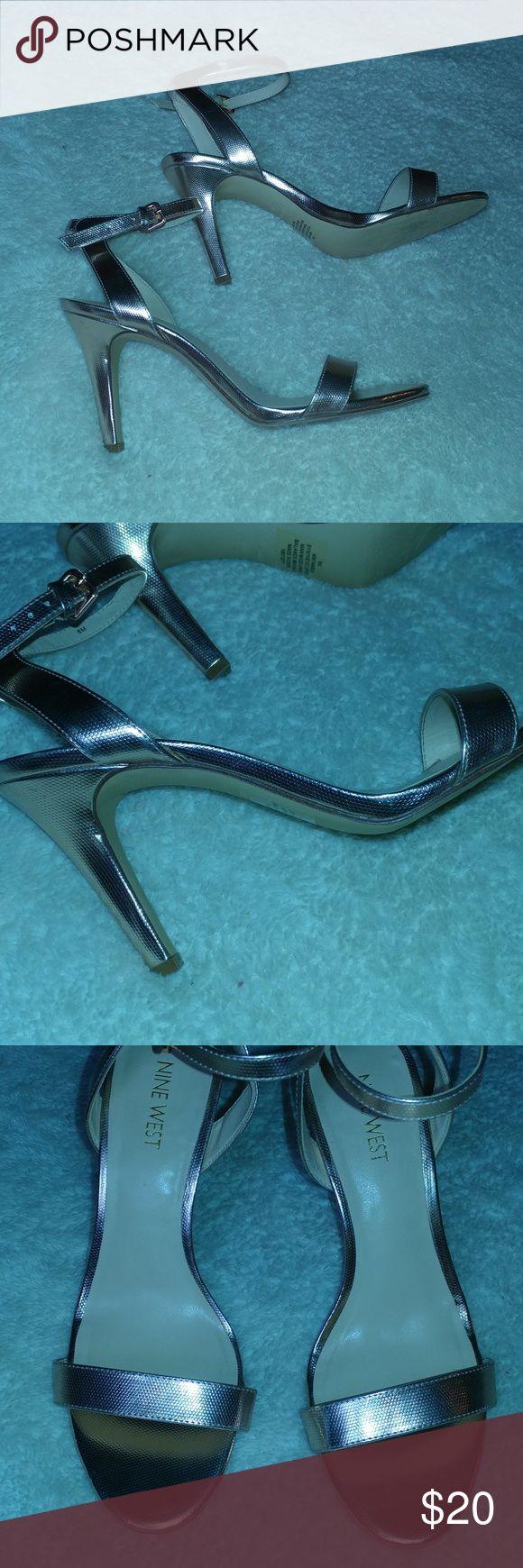 ROSE GOLD strappy high heel sandals ROSE GOLD strappy high heel sandals, NWOT, never worn Nine West Shoes Heels