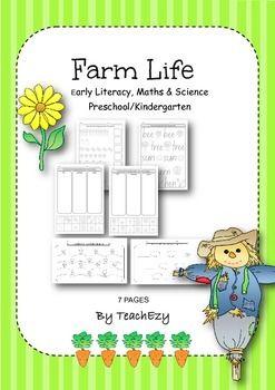 Farm Life Activities preschool/kindergarten