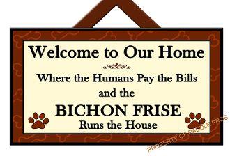 BICHON FRISE Sign