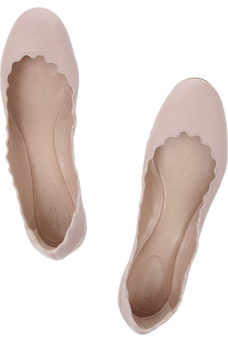 Chloé | Lauren leather ballet flats | NET-A-PORTER.COM - small playful difference from your standard ballet flat