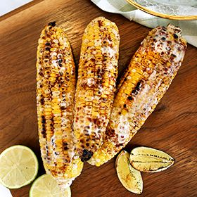 Mexican Corn with Lime Crema, a recipe from the ATCO Blue Flame Kitchen.